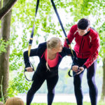 Bild Man and woman at fitness training